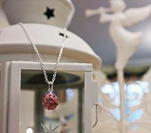 Shamballa nyaklánc, rózsaszín