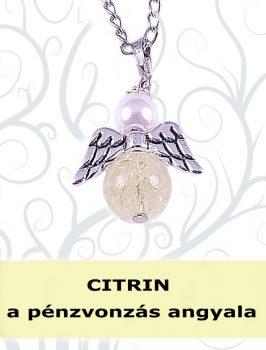 A PÉNZVONZÁS ANGYALA - citrin angyalka nyaklánc