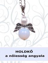 A NŐIESSÉG ANGYALA - opalit angyalka nyaklánc