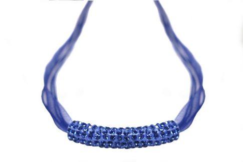 MAGIC SHAMBALLA nyaklánc organza szalagon - kék