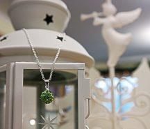 Shamballa nyaklánc, zöld