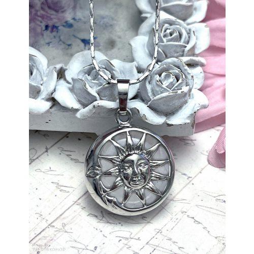 Hegyikristály Hold és Nap medál (lánccal is kérhető)