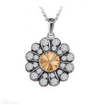 Daisy nyaklánc Swarovski Elements kristállyal - aranysárga