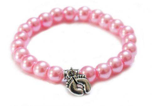 Babaváró karkötő - rózsaszín