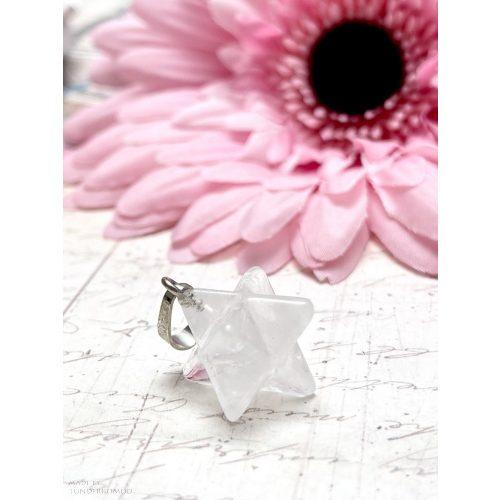 Hegyikristály MERKABA medál (lánccal is kérhető)