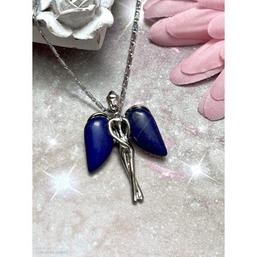Lápisz lazuli őrangyal, angyalka medál (lánccal is kérhető)