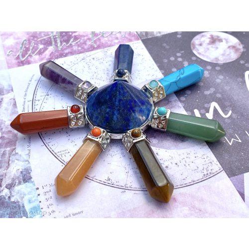 Energetizáló csakrapiramis lápisz lazuli kúppal - közepes méret