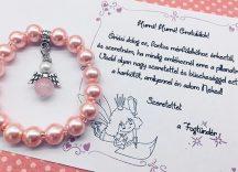 A FOGTÜNDÉR AJÁNDÉKA - rózsakvarc angyalkás karkötő
