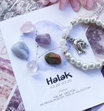 HALAK ajándékcsomag ásványokkal és Swarovski Elements kristállyal