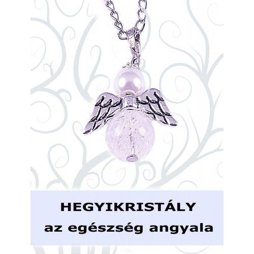 AZ EGÉSZSÉG ANGYALA - hegyikristály angyalka nyaklánc
