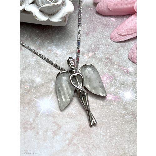 Hegyikristály őrangyal, angyalka medál (lánccal is kérhető)