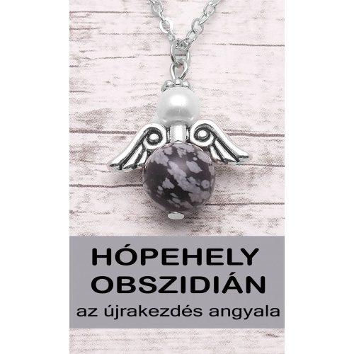 AZ ÚJRAKEZDÉS ANGYALA - hópehely obszidián angyal nyaklánc