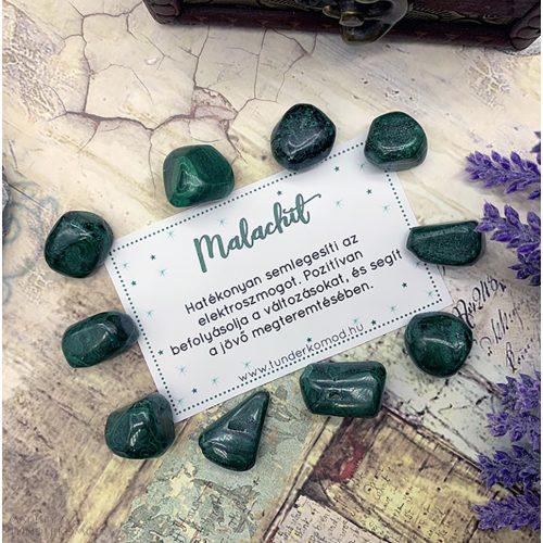 Malachit marokkő S méret (1 db)