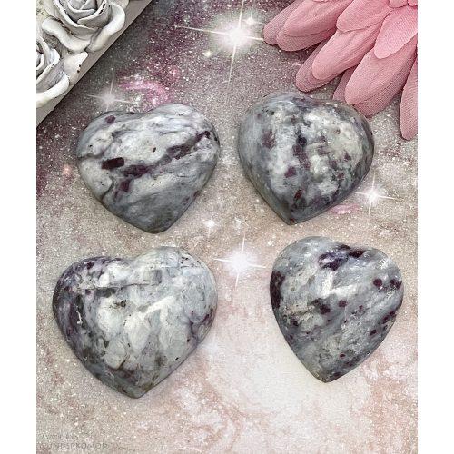 Rubellit szív marokkő