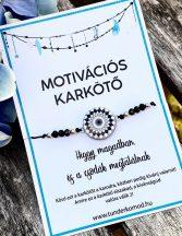 HIGGY MAGADBAN motivációs karkötő - fekete mandala
