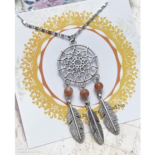 Álomfogó nyaklánc napkővel