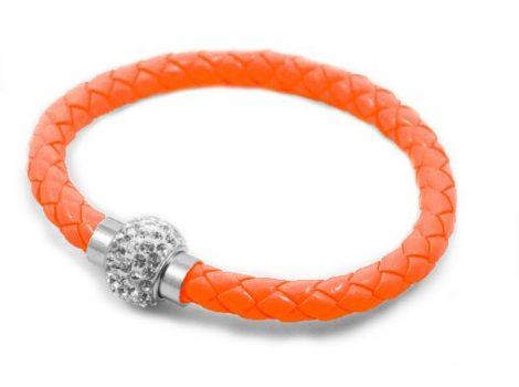Fonott Shamballa karkötő - narancs