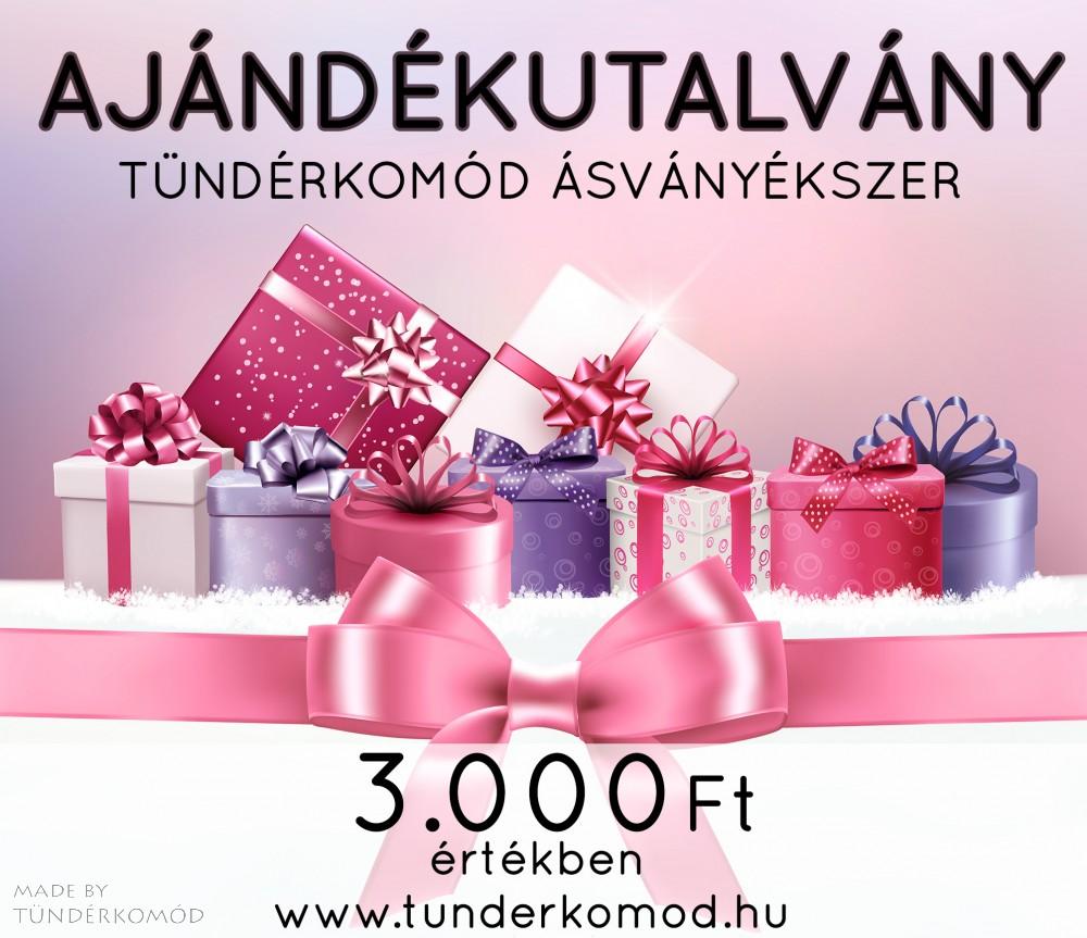 Karácsonyi ajándékutalvány 3000 Ft értékben